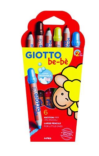 Giotto Bebè 466400 - Supermatitoni Astuccio 6 Colori + Temperamatite