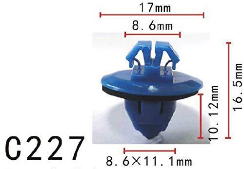 FidgetGear 20x Nylon Fit Toyota Rocker Panel Moulding Clip Retainer Fastener (17x10x 9mm)