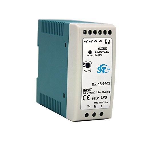 MDINR-60-24 Industrial DIN carril de conmutación de la fuente de alimentación - 60W, 24V DC, 2.5A - voltaje de salida ajustable 24-30v, CA a CC para industrial gigabit ethernet poe switch