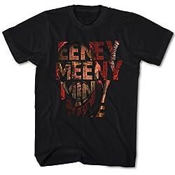 camiseta hombre Negan Walking Dead Lucille Rick Serie de TV - Negro, L