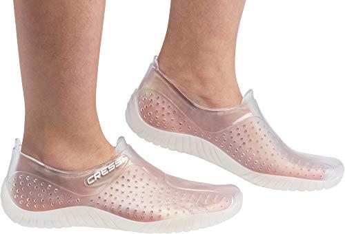 Cressi Water Shoes, Scarpe per Tutti Gli Sport Acquatici Unisex Adulto, Transparente, 43 EU