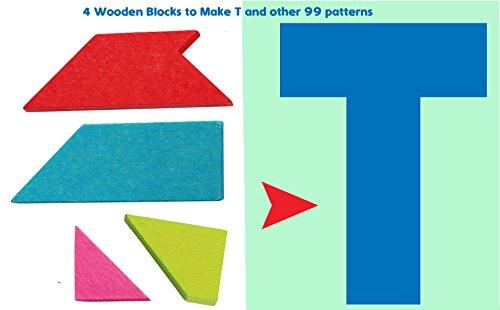 Toys of Wood Oxford Puzzle T in Legno - Forme Geometriche Rompicapo - Tangram Puzzle in Legno per...