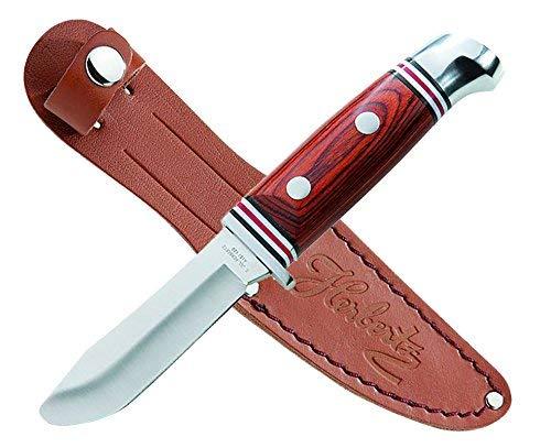 Herbertz Kinder-Schnitzmesser mit Gürteltasche, 17,6 cm, Holzgriff