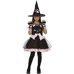 My Other Me Me-204019 Disfraz de bruja gatito para niña, 7-9 años (Viving Costumes 204019