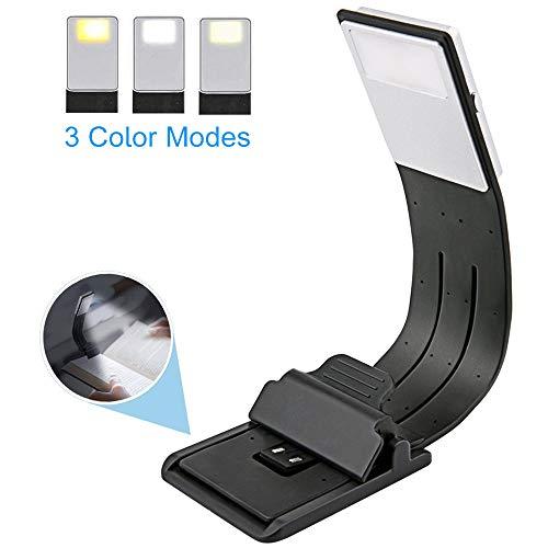 EasyULT Lampada da Lettura USB Ricaricabile, Luce Lettura Notturna, 3 Luminosità Modalità...