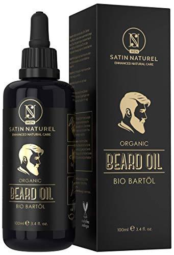 Aceite para Barba Orgánico Vegano 100ml - Botella Más Grande - Cuidado de la Cara y la Barba con Aceite de Almendra, Jojoba y Argán - Promueve el Crecimiento de la Barba - Hecho en Alemania