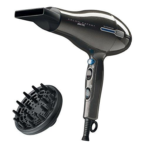 Imetec Salon Expert P2 2200 Asciugacapelli Professionale, 2200W, Tecnologia a Ioni, Rivestimento in Ceramica e Tormalina, 8 Combinazioni Aria/Temperatura, Diffusore Professionale a Dita Incluso