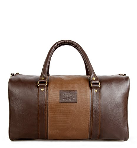 The Clownfish Ambiance Series 20 Litre Unisex Faux Leather Brown Travel Duffle