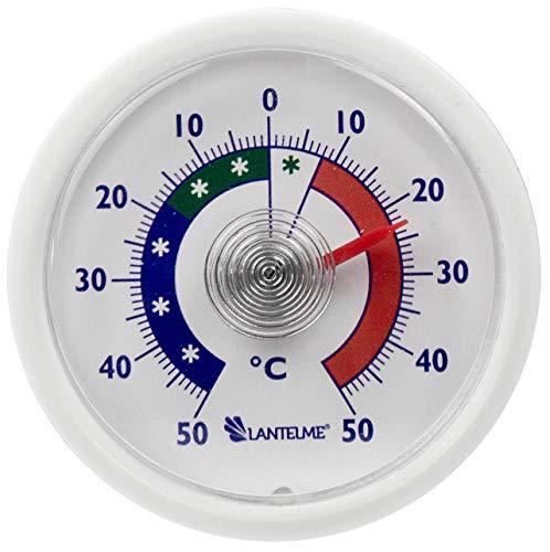 Lantelme Termometro analogico per Frigorifero Rotondo, Adesivo e in 2 Metalli, segnala Temperature...