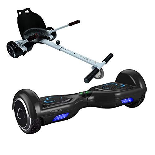 Smartgyro X2 + Go Kart Pack Black Skateboard Elettrico X2 UL (Hoverboard 6'5' Pneumatiches Run-Flat)...