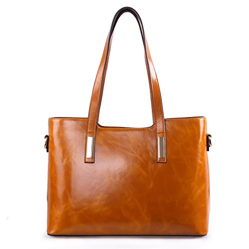 f4a02ec38a Yafeige Women s Ladies Handbag Fashionable Designer Genuine Leather Tote  Shoulder Bags