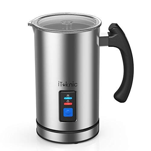 Montalatte Elettrico Schiumatore Latte iTeknic per Uso Domestico, Controllo Strix Interni...