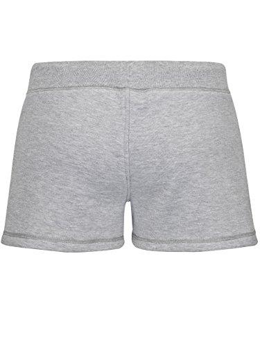 Damen WiesnFit Jogging Lederhose Madl - Jogginghose Trachten Hotpants (L, Grau) -
