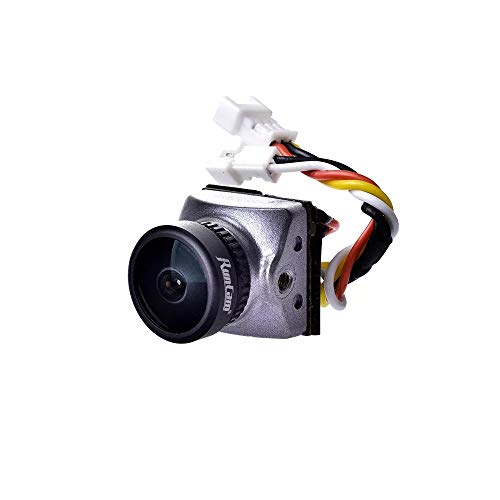 DishyKooker Run-Cam Racer Nano CMOS 700TVL 1.8mm / 2.1mm Super WDR Telecamera FPV più Piccola 6ms...