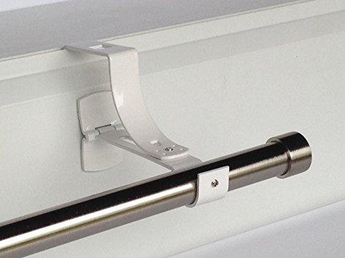 Geko-2x sin Necesidad de Agujeros Soportes para Cortina (diámetro: 28mm-Especial para Rodillo Obturador Caja-Color: Blanco