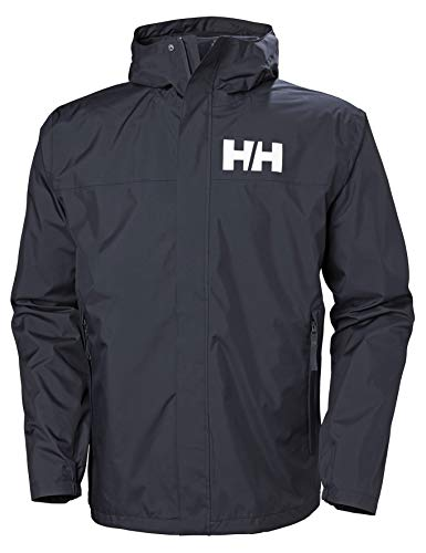 Helly Hansen Active 2 Giacca Impermeabile, con Cappuccio Uomo, Navy, M