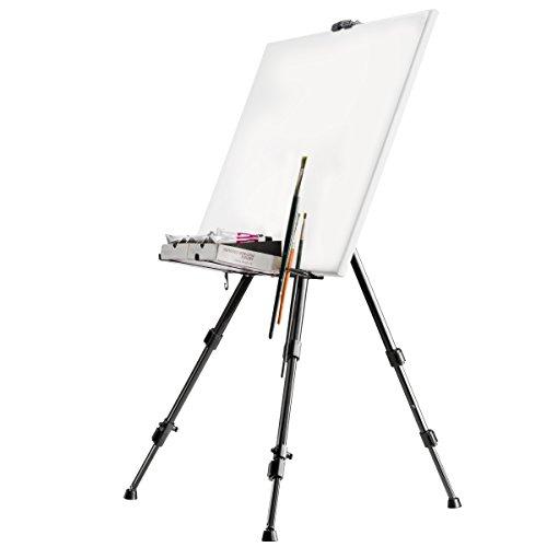 Walimex Pro, cavalletto da atelier (portata massima: circa 6kg, con ripiano per colori, pennelli,...