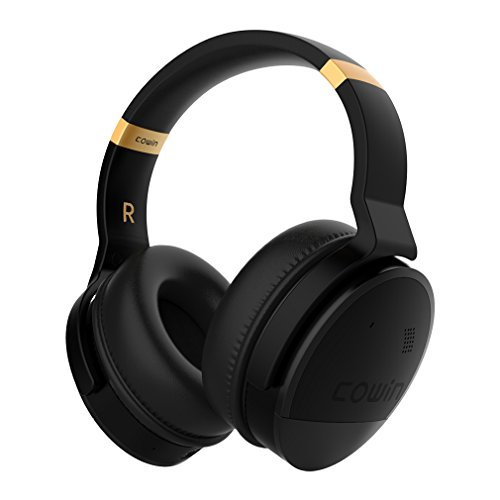 COWIN E8 Auriculares Inalámbricos Bluetooth con Micrófono Hi-Fi Deep Bass Auriculares Inalámbricos Sobre El Oído, (Hi-Res Audio, cancelación de ruido, Bluetooth,20 horas de autonomía) - Negro