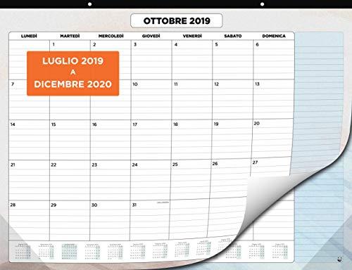 Calendario da Muro 2019-2020 - Calendario da Scrivania Mensile, Luglio 2019 fino a Dicembre 2020 -...