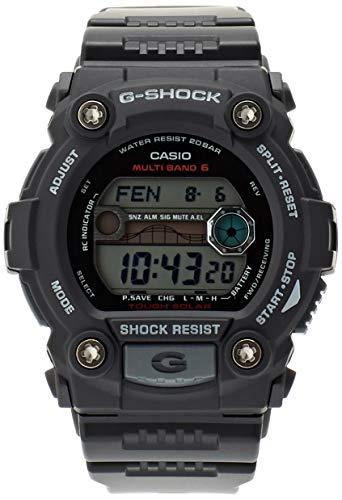 Casio G-Shock Digital Herrenarmbanduhr GW-7900 schwarz, Solar und Funkuhr, 20 BAR