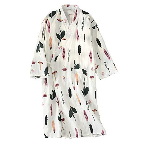 Vestido de Kimono Mujer Yukata Albornoz Pijamas Rosa Mariposa