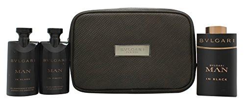 dfc21ae0140 Bvlgari Man In Black Roma Gift Set 100ml EDP + 75ml Aftershave Balm + 75ml  Shampoo and Shower Gel ...