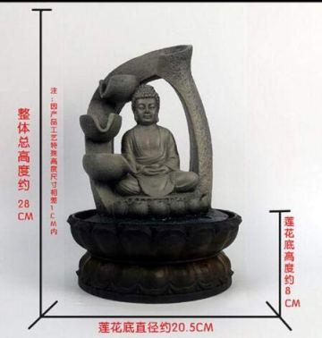 SPYXGS Artesanías del Sudeste Asiático Modelos Creativos Estatua De Buda Resina Agua Adornos Agua Paisaje Reclutar Propiedad Fuente 5