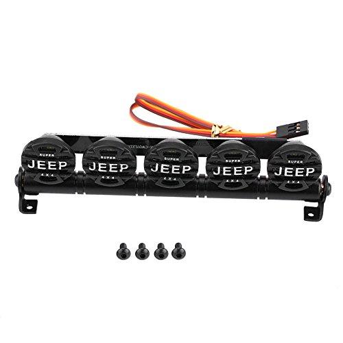 Dilwe Barra Luminosa RC, Luci da Tetto Luminosa a LED per Jeep 1/10 Auto d'arrampicata Fuoristrada...