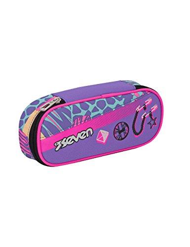PORTAPENNE scuola SEVEN - SWAG GIRL - Blu Rosa - porta penne
