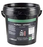 PFIFF Huffett mit Lorbeeröl, Pferde Hufpflege, hochwertige Öle, schwarz, 1.000 ml