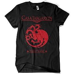 212-Camiseta Juego De Tronos - Casa Targaryen (M, Negro)
