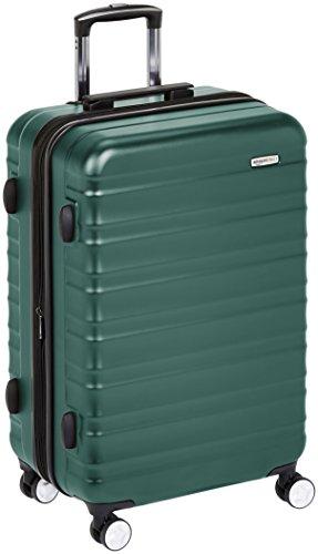 AmazonBasics - Trolley rigido Premium con rotelle pivotanti e lucchetto TSA integrato - 78 cm, Verde