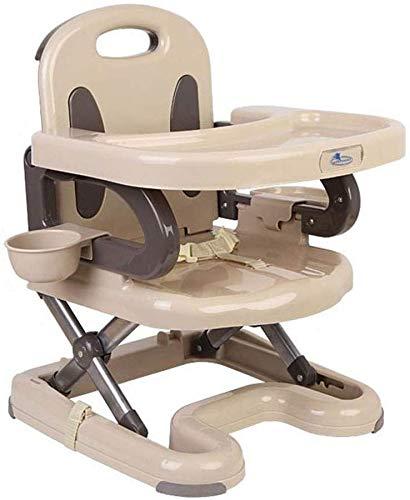 XZHU Multi Function Piegato Sedia di Alimentazione Pieghevole Rimovibile Vassoio Dinning Sedie Infantile Sedia di Corsa del Bambino di Alimentazione seggiolone Junior Chair e BoosterColor: Beige