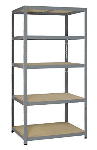 Avasco 5400431610352 - Forte clip di pesante 265 metallo e legno scaffale con 5 ripiani 180 x 90 x...