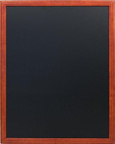 Securit - Lavagna per gesso da parete con finitura laccata e cornice in legno di mogano, 80 x 100 cm