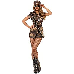 DISBACANAL Disfraz Militar Sexy Mujer - Único, M