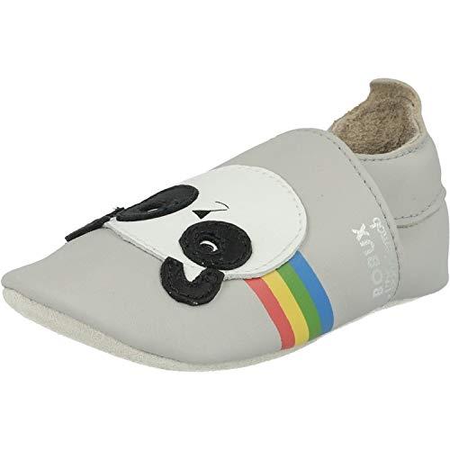 Bobux Soft Sole Peace Panda Grigio Chiaro Pelle 9-15 Mesi