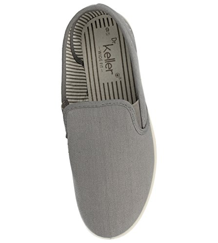 1883bc7be86 New Mens Dr Keller Canvas Casual Slip On Wide Fit Comfort Bar Deck ...