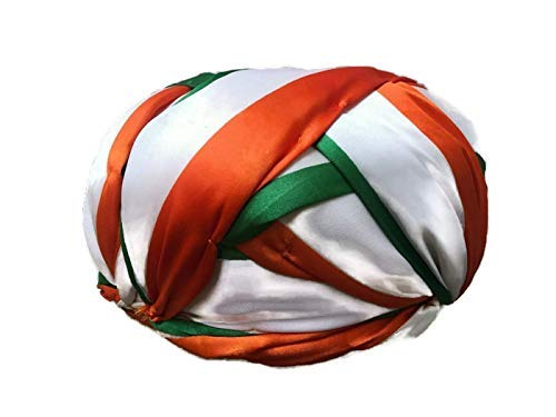 S H A H I T A J Unisex Indian Flag Tiranga or Tricolor Vantma Safa | Turban | Pagdi | Pheta for Kids and Adults - Code TS 21005