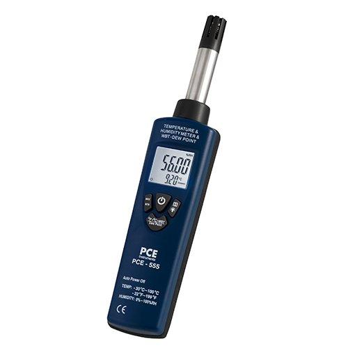PCE Instruments PCE-555 Feuchtemessgerät / Feuchtemesser / Raumfeuchte / Luftfeuchtemessgerät zum messen von Raumfeuchte, Raumtemperatur...
