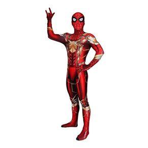 SPIDERMANHTT Traje de Cosplay de Spiderman Medias de Mono Artículos de Fiesta Loca Accesorios de película de Halloween Impresión 3D Spandex Lycra ( Color : Adult Conjoined , Size : XL )