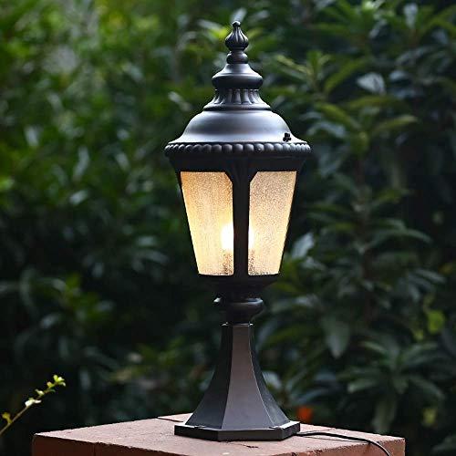 Pillar Victoria parete classica Lights - lanterna antica Paesaggio Vetro - lampada esterna impermeabile Colonna - Vintage Classic antipioggia esterno palo della luce for il portello Garden Villa