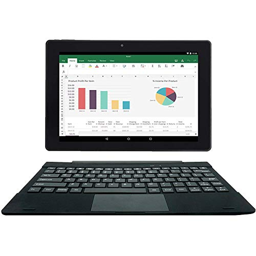 [2 oggetto bonus] Simbans TangoTab Tablet 10 pollici con tastiera 2-in-1 laptop   Android 8.1 Oreo,...