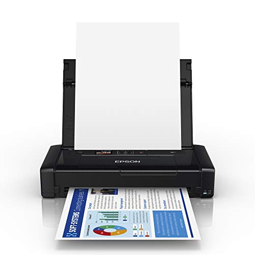 Epson WorkForce WF-110W - Stampante a getto d'inchiostro, portatile, DIN A4, WiFi, WiFi Direct, USB,...