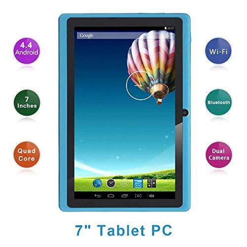 Haehne 7 Pollici Tablet PC, Google Android 4.4 Quad Core, 512MB RAM 8GB ROM, Doppia Fotocamera,...