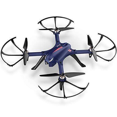 DROCON – Drone Blue Bugs 3 Potente per Esterni con Motore senza Spazzole, Quadrirotore a Lunga Durata di Volo con Supporto Action Camera HD (BLUE bugs)