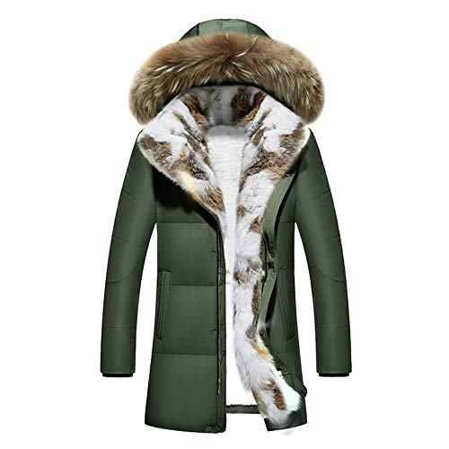 Spricen Jacket Men Piumino Invernale da Uomo Spesso Piumini D'Anatra Giacche Calde Cappotti Verdi M
