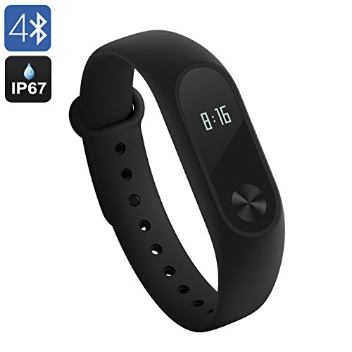 Xiaomi Mi Band 2 Activity Tracker, Cardiofrequenzimetro da Polso Braccialetto Fitness Tracker...
