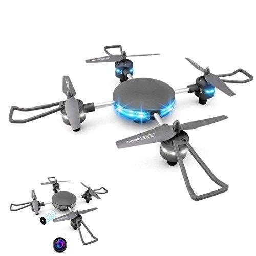 YMXLJJ Wifi FPV Drone E HD Camera Altezza Keep RC Quadcopter Cool Light One-Button Ritorno Smart Toy...