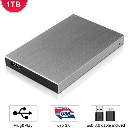Hard Disk 1 TB Esterno USB 3.0 Portatile Disco Rigido Esterno, Memoria HDD External Hard Drive Disk...